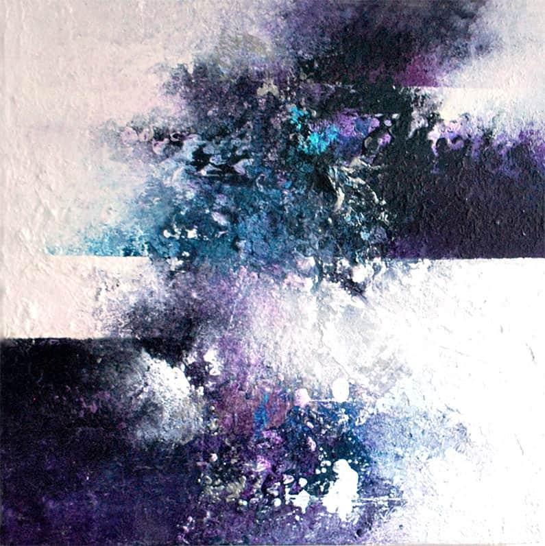 abstrakte-malerier-viser-det-abstrakte-maleri-sunrise-40x40-cm-malet-af-louise-ellebjerg