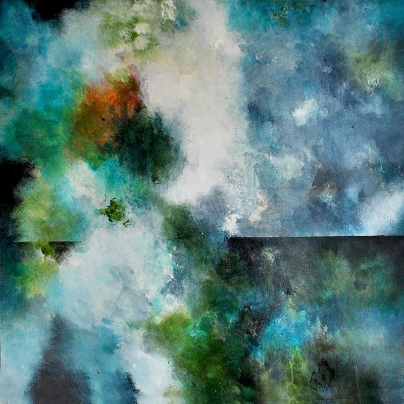 abstrakte-malerier-viser-det-abstrakte-maleri-flowering-60x60-cm-malet-af-louise-sellebjerg