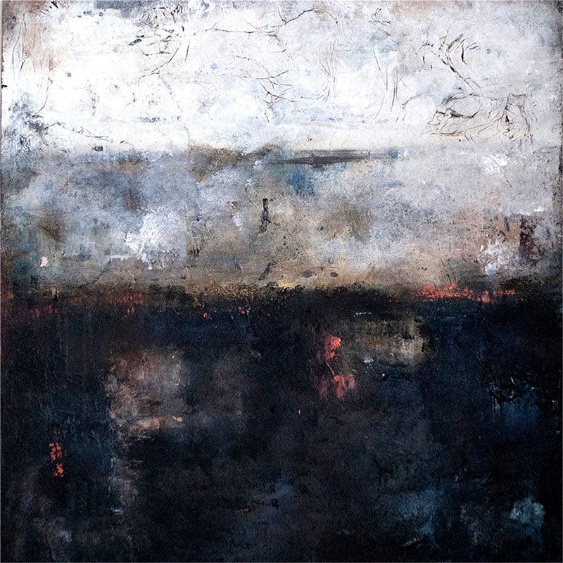 abstrakt-kunstner-viser-det-abstrakte-quiet-night-60x60cm-malet-af-louise-sellebjerg
