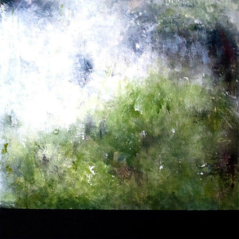 kunstforening-viser-det-abstrakte-maleri-greenie-60x60cm-malet-af-louise-sellebjerg
