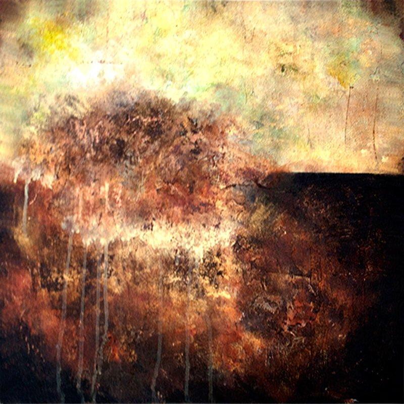 kunstforening-viser-det-abstrakte-maleri-golden-days-60x60cm-malet-af-louise-sellebjerg